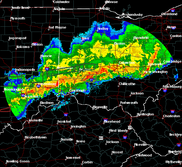 Radar Image for Severe Thunderstorms near Waynesville, OH at 11/5/2017 8:10 PM EST
