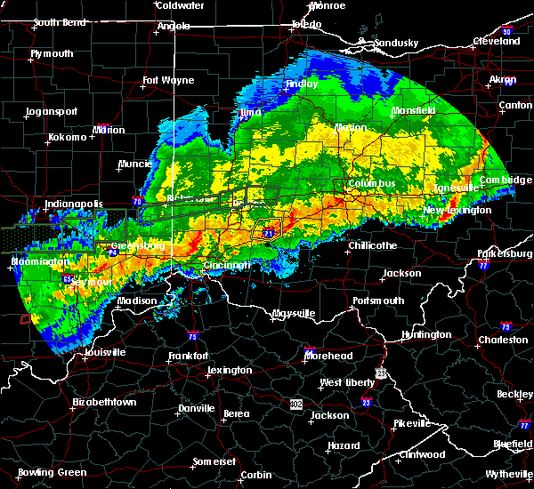 Radar Image for Severe Thunderstorms near Jamestown, OH at 11/5/2017 8:25 PM EST