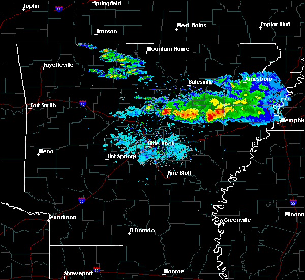 Radar Image for Severe Thunderstorms near Searcy, AR at 11/6/2017 10:10 AM CST