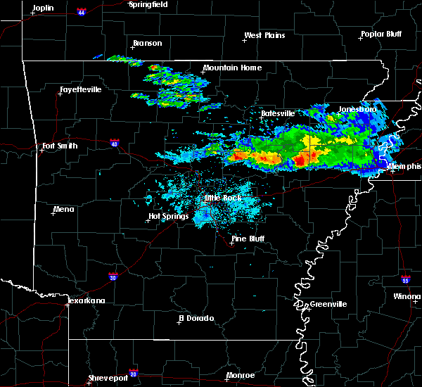 Radar Image for Severe Thunderstorms near Searcy, AR at 11/6/2017 10:22 AM CST