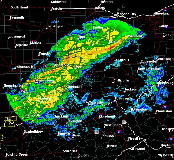Radar Image for Severe Thunderstorms near Bradford, OH at 11/18/2017 4:28 PM EST