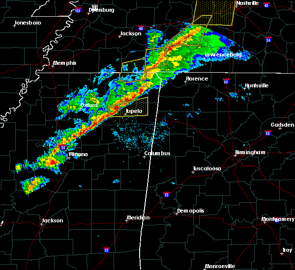 Radar Image for Severe Thunderstorms near Blue Springs, MS at 11/18/2017 4:12 PM CST