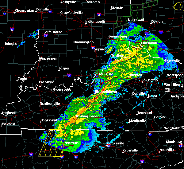 Radar Image for Severe Thunderstorms near Hodgenville, KY at 11/18/2017 5:24 PM EST