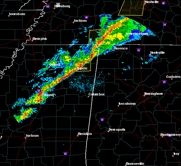 Radar Image for Severe Thunderstorms near Saltillo, MS at 11/18/2017 4:24 PM CST