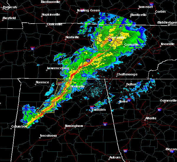 Radar Image for Severe Thunderstorms near Hartselle, AL at 11/18/2017 6:05 PM CST