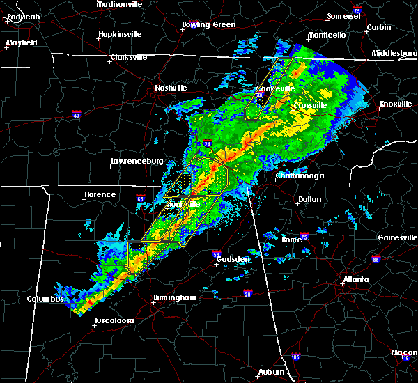 Radar Image for Severe Thunderstorms near Hytop, AL at 11/18/2017 6:32 PM CST