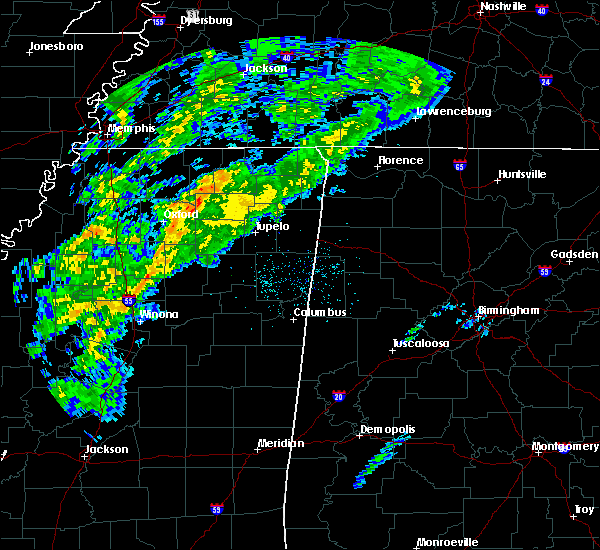 Radar Image for Severe Thunderstorms near Blue Mountain, MS at 12/23/2017 3:17 AM CST
