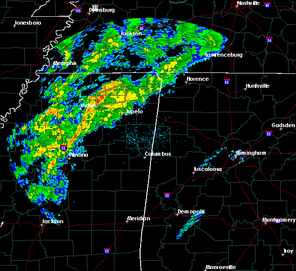 Radar Image for Severe Thunderstorms near Hickory Flat, MS at 12/23/2017 3:21 AM CST