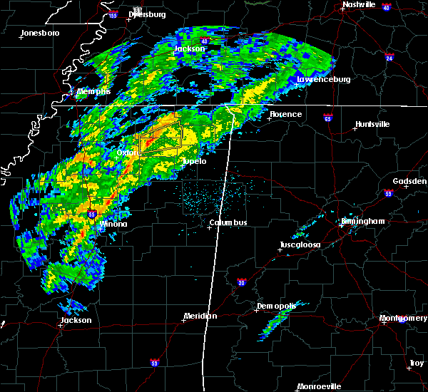 Radar Image for Severe Thunderstorms near Blue Mountain, MS at 12/23/2017 3:26 AM CST