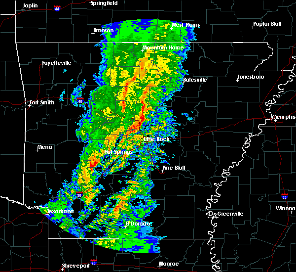 Radar Image for Severe Thunderstorms near Enola, AR at 1/22/2018 12:56 AM CST
