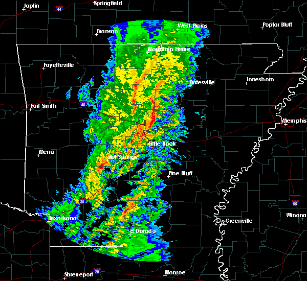 Radar Image for Severe Thunderstorms near Enola, AR at 1/22/2018 1:03 AM CST