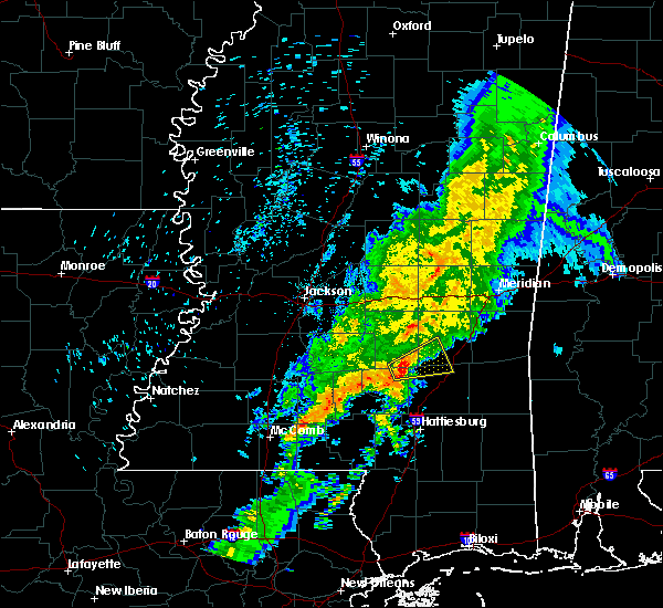 Radar Image for Severe Thunderstorms near Bay Springs, MS at 1/22/2018 9:21 AM CST