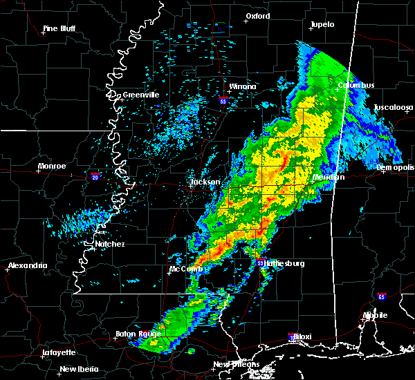 Radar Image for Severe Thunderstorms near Bay Springs, MS at 1/22/2018 9:37 AM CST