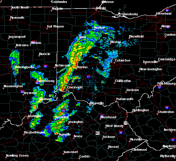 Radar Image for Severe Thunderstorms near Dayton, OH at 1/22/2018 9:04 PM EST