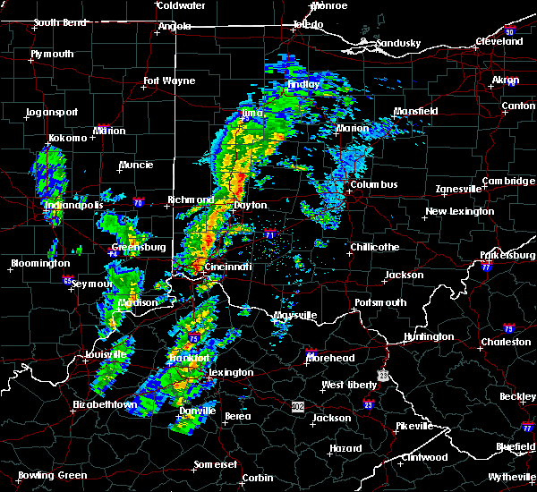 Radar Image for Severe Thunderstorms near St. Paris, OH at 1/22/2018 9:10 PM EST