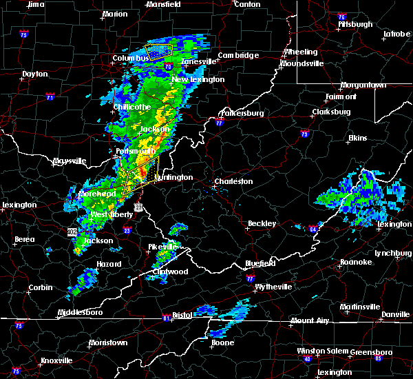 Radar Image for Severe Thunderstorms near Huntington, WV at 1/23/2018 12:03 AM EST