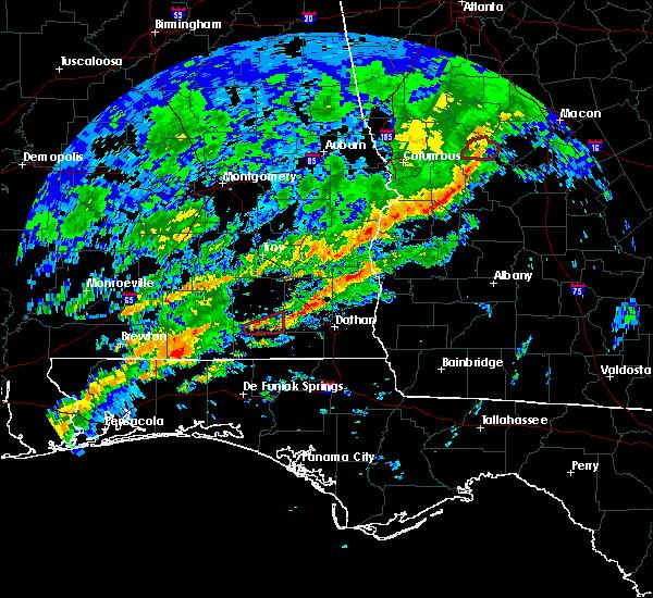 Radar Image for Severe Thunderstorms near Enterprise, AL at 2/7/2018 10:27 AM CST