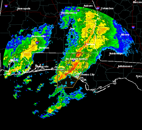 Radar Image for Severe Thunderstorms near Jacob City, FL at 2/11/2018 3:16 AM CST