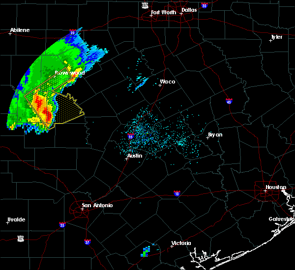 Radar Image for Severe Thunderstorms near Brownwood, TX at 2/20/2018 1:30 AM CST