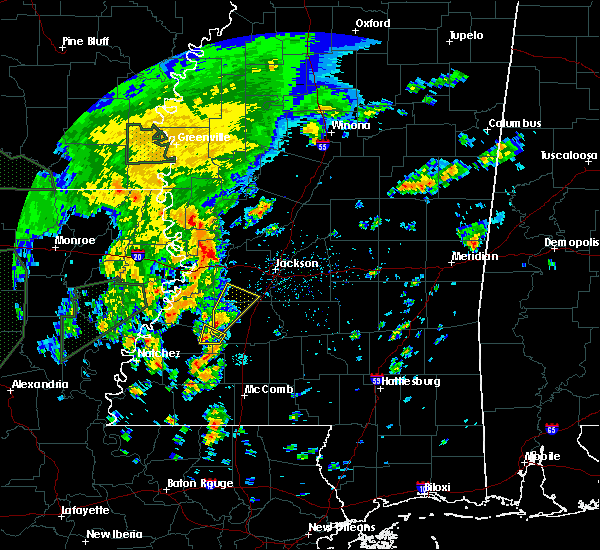 Radar Image for Severe Thunderstorms near Utica, MS at 2/21/2018 3:39 PM CST