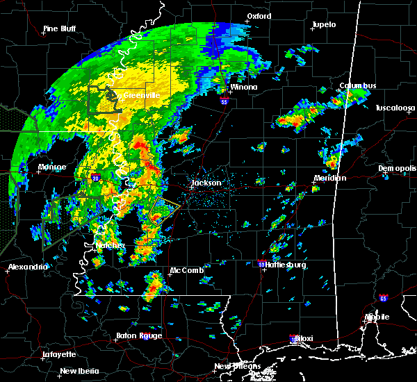 Radar Image for Severe Thunderstorms near Utica, MS at 2/21/2018 3:53 PM CST