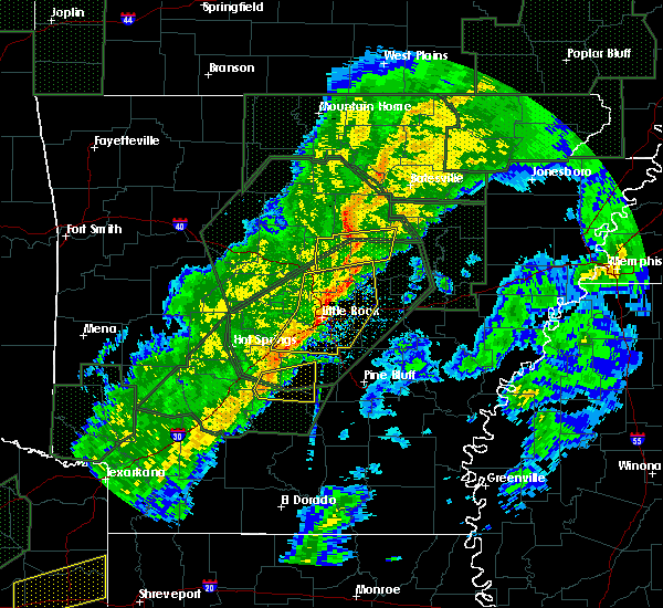 Radar Image for Severe Thunderstorms near Searcy, AR at 2/24/2018 3:58 PM CST