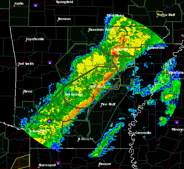 Radar Image for Severe Thunderstorms near Searcy, AR at 2/24/2018 4:29 PM CST