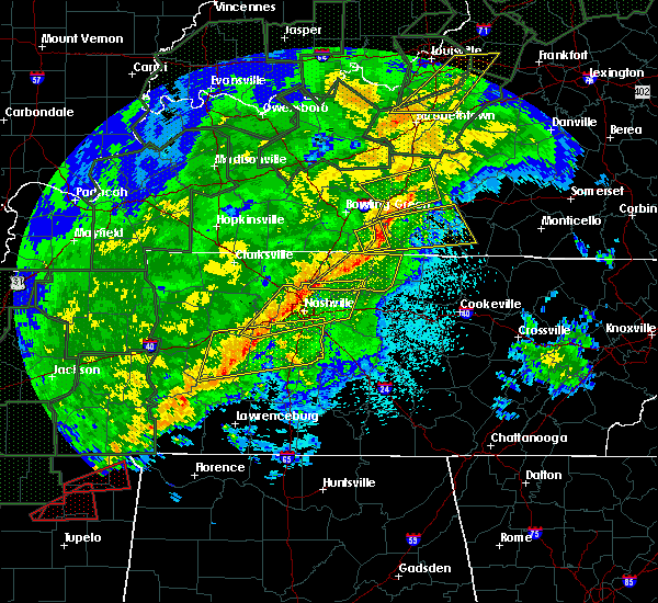 Radar Image for Severe Thunderstorms near Lebanon, TN at 2/24/2018 10:20 PM CST