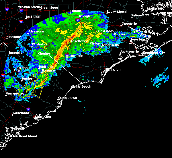 Radar Image for Severe Thunderstorms near Pembroke, NC at 3/1/2018 5:08 PM EST