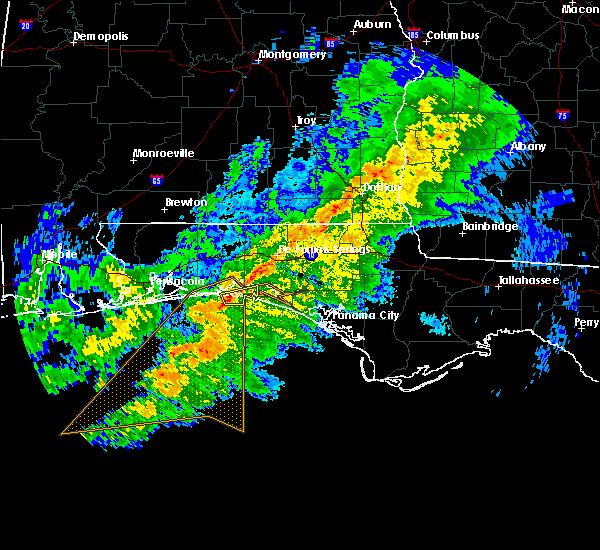 Radar Image for Severe Thunderstorms near Destin, FL at 3/6/2018 10:46 AM CST