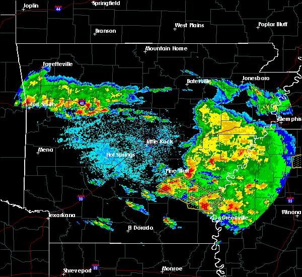 Radar Image for Severe Thunderstorms near Watson, AR at 3/10/2018 10:22 PM CDT