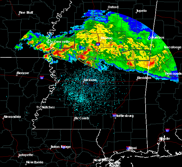 Radar Image for Severe Thunderstorms near Durant, MS at 3/11/2018 12:56 AM CDT