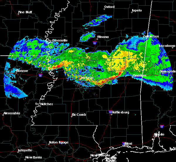 Radar Image for Severe Thunderstorms near Newton, MS at 3/11/2018 4:10 AM CDT