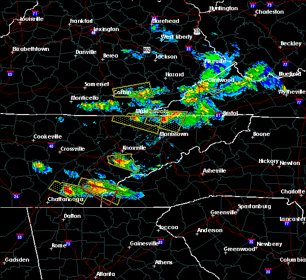 Radar Image for Severe Thunderstorms near Cumberland Gap, TN at 3/17/2018 7:44 PM EDT