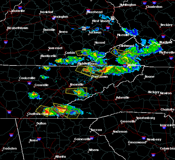 Radar Image for Severe Thunderstorms near Murphy, NC at 3/17/2018 8:03 PM EDT