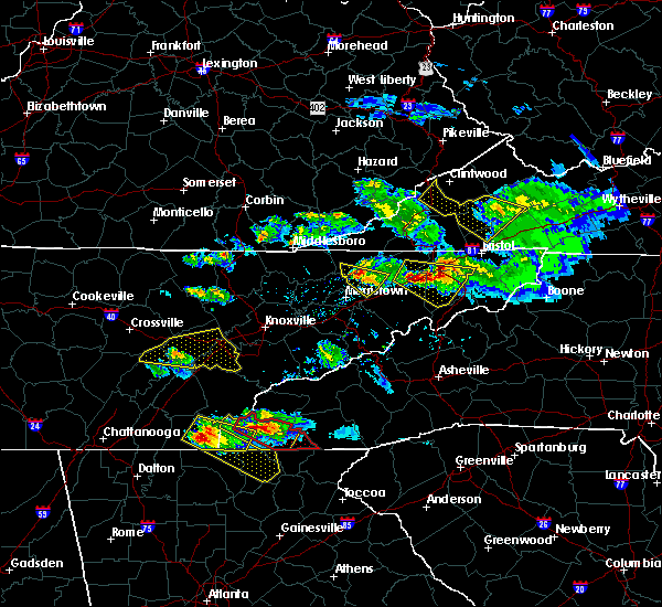 Radar Image for Severe Thunderstorms near Murphy, NC at 3/17/2018 8:27 PM EDT