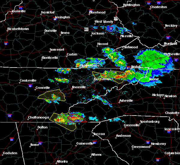 Radar Image for Severe Thunderstorms near Murphy, NC at 3/17/2018 8:36 PM EDT