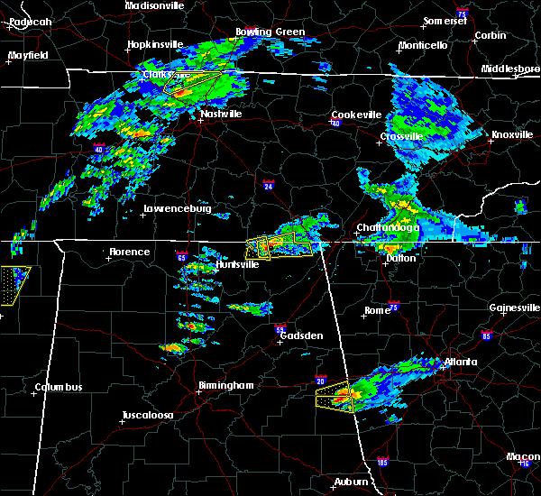 radar image for severe thunderstorms near bridgeport al at 3192018 3