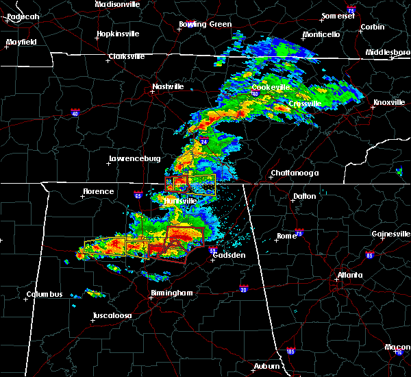 Radar Image for Severe Thunderstorms near Hytop, AL at 3/19/2018 7:24 PM CDT