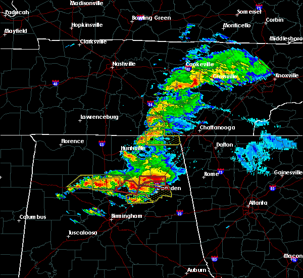 Radar Image for Severe Thunderstorms near Hytop, AL at 3/19/2018 7:48 PM CDT