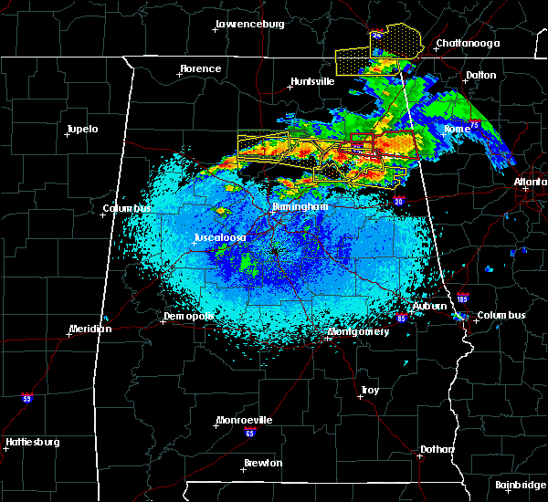 Radar Image for Severe Thunderstorms near Cleveland, AL at 3/19/2018 8:16 PM CDT