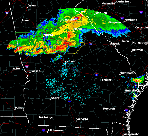 Radar Image for Severe Thunderstorms near Siloam, GA at 3/20/2018 12:31 AM EDT