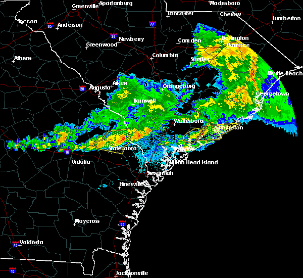 Radar Image for Severe Thunderstorms near North Charleston, SC at 3/20/2018 5:16 AM EDT