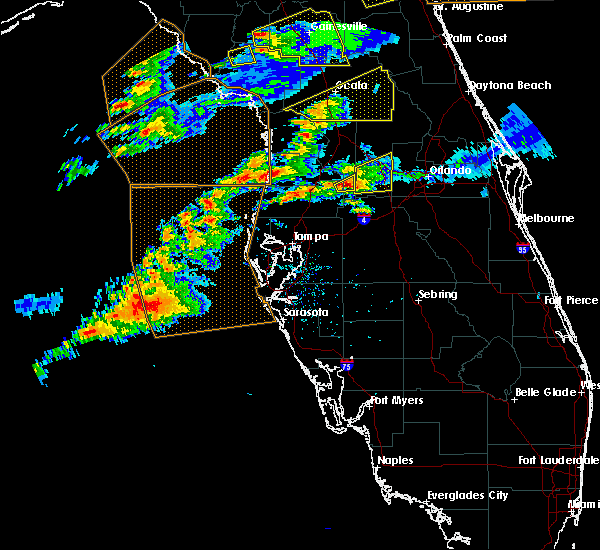 Radar Image for Severe Thunderstorms near Groveland, FL at 3/20/2018 1:42 PM EDT