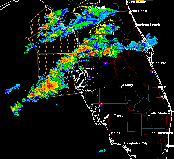 Radar Image for Severe Thunderstorms near St. Leo, FL at 3/20/2018 1:54 PM EDT