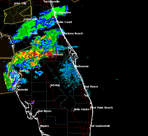 Radar Image for Severe Thunderstorms near Azalea Park, FL at 3/20/2018 2:30 PM EDT