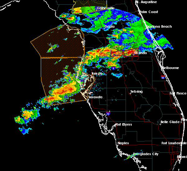 Radar Image for Severe Thunderstorms near Groveland, FL at 3/20/2018 2:36 PM EDT