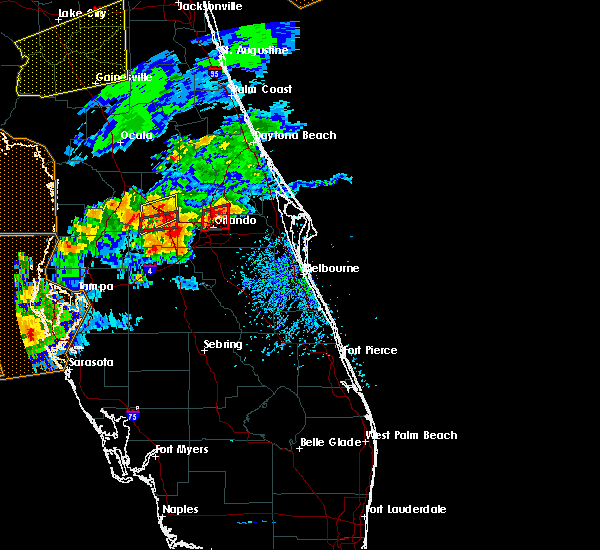 Radar Image for Severe Thunderstorms near Azalea Park, FL at 3/20/2018 2:45 PM EDT