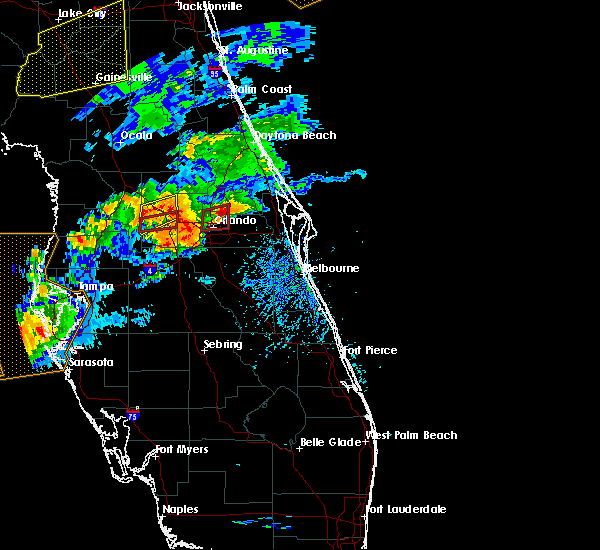 Radar Image for Severe Thunderstorms near Azalea Park, FL at 3/20/2018 2:51 PM EDT