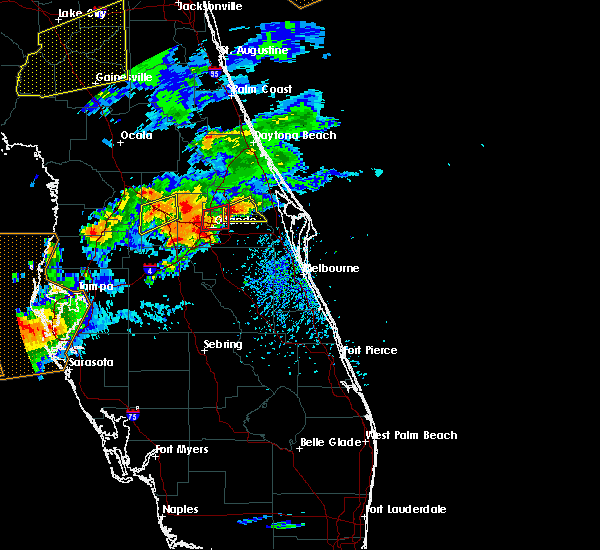 Radar Image for Severe Thunderstorms near Goldenrod, FL at 3/20/2018 3:00 PM EDT
